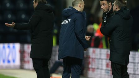 Preston boss Alex Neil and City keeper coach Ed Wootten exchanged words at Deepdale the last time th