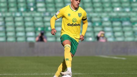 Max Aarons of Norwich in action during the Sky Bet Championship match at Carrow Road, NorwichPicture
