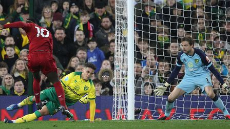 Sadio Mane was the match winner for Liverpool in February's 1-0 Premier League win at Norwich Pictur