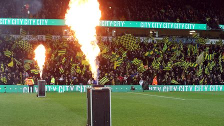 Pyrotechnics before the Premier League match at Carrow Road, NorwichPicture by Paul Chesterton/Focus