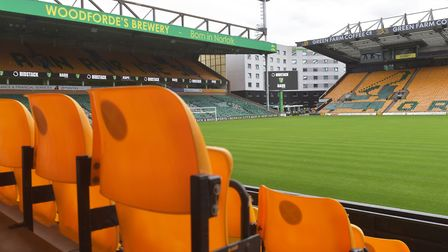 Carrow Road will reopen to 1,000 fans for the game against Preston. Picture: BRITTANY WOODMAN