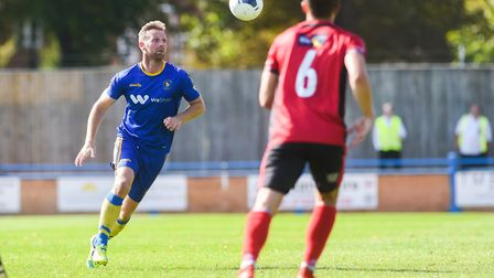 Ryan Jarvis keeps his eyes on the ball Picture: Ian Burt