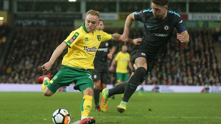 Alex Pritchard in action for Norwich against Chelsea. Picture: Paul Chesterton/Focus Images