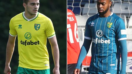 Danel Sinani, left, and Melvin Sitti have left Norwich City on loan Pictures: Paul Chesterton/Focus