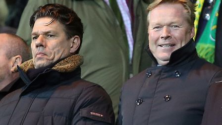 Ronald Koeman, pictured at Carrow Road in February, is the new man at the helm at Barcelona. Picture