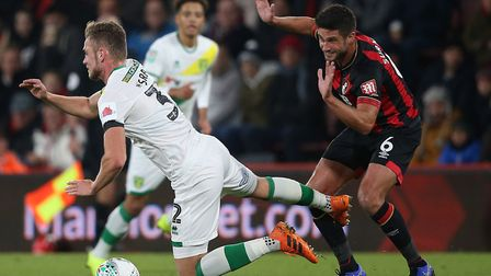 Andrew Surman, right, in action during Bournemouth's 2-1 win over Norwich in the League Cup fourth r