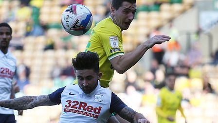 Kenny McLean struggled to find his form during Norwich City's home draw with Preston Picture: Paul C