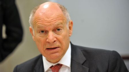 Master of the Rolls, Lord Neuberger addresses a news conference at the publication of a report into