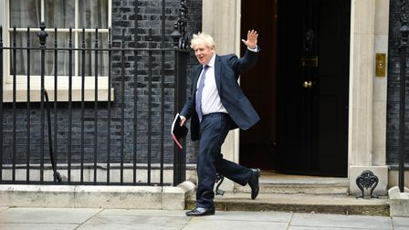 British Prime Minister Boris Johnson leaves Downing Street in September 2020. Photo: Leon Neal/Getty Images