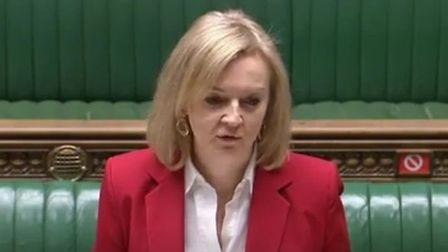 Liz Truss speaking in the House of Commons