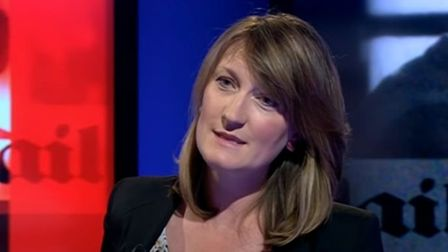 Allegra Stratton appearing on Newsnight