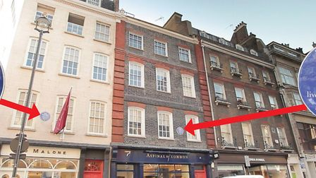 The house in Brook Street, Mayfair both made their homes 200 years apart