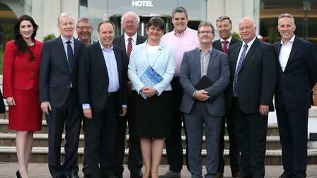 DUP leader Arlene Foster (centre) with MP's