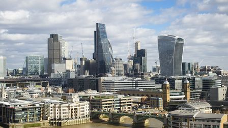 General view of the City of London skyline, London. Picture date: Thursday March 2nd, 2017. Photo cr