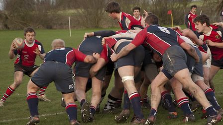 Broadland-GY defend at the scrum