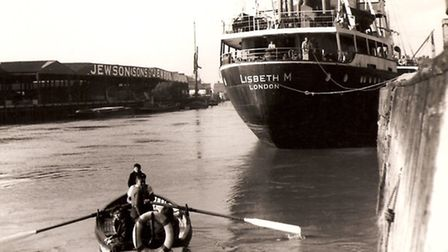 NOVEL WAY OF DOING IT: the upper ferry between Southtown and South Quay, used by a Porthole reader f