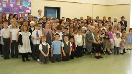 Rollesby Primary School celebrated its 90th birthday with the help of a 98 year old former pupil who