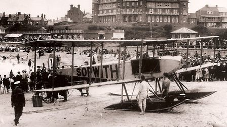 MAINHAPPY LANDING? Not exactly, for problems caused this seaplane to come ashore at Gorleston in 191