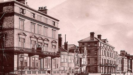 MAIN EARLY YEARS...Great Yarmouth Marine Parade in the 19th century. The Royal Hotel is one of the