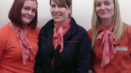 Thetford Anglia Co-operative Team. From left, assistant manager Zoe Adams, travel consultant Kerri