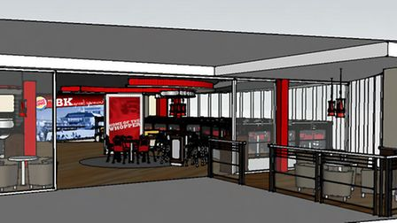 An artists impression of the new Burger King due to open soon in Market Gates, Great Yarmouth