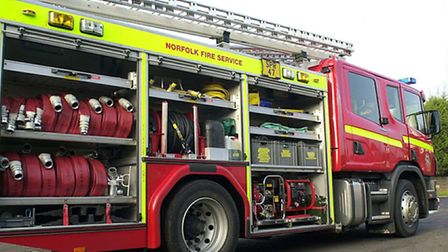 Firefighters were called to a crash in Little Plumstead this morning.
