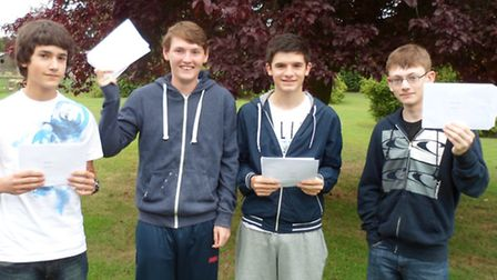 Fergus Eyres, Jay Yates, Murray Burt and Jacob Amacker scored Iceni Academy's top results