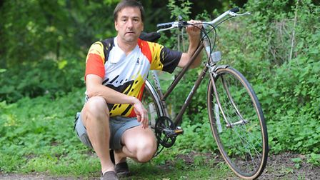 Chairman of Mildenhall cycle club has had 4 bikes stolen from his property.Photo: Sonya Duncan