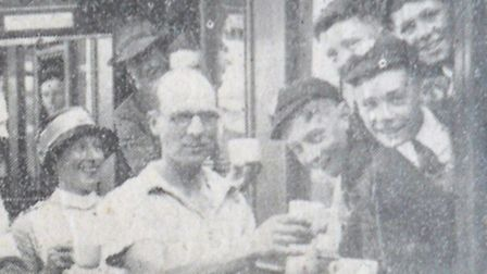 FAREWELL DRINK – of water before the train steams out.Picture: MERCURY LIBRARY
