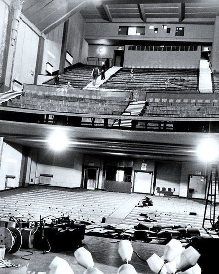 STARS' EYE VIEW: the interior of the former Regal cinema and theatre when fixtures and fittings were