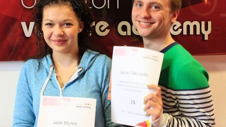 Ormiston Venture Academy's head boy Jacob Talkowski and Jade Munro looking ahead to the future after