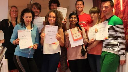 Students and staff at Ormiston Venture Academy in Gorleston celebrate their GCSE results