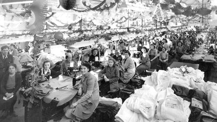 CHRISTMAS IS COMING – but work continued beneath the decorations at The Conge in 1952.