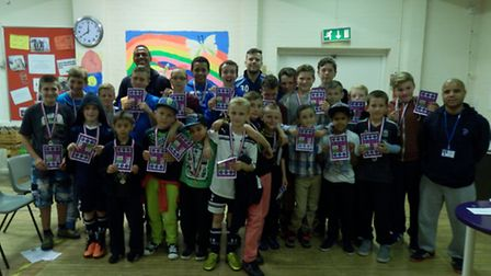 Young people at Thetford Community Association's Annual General Meeting