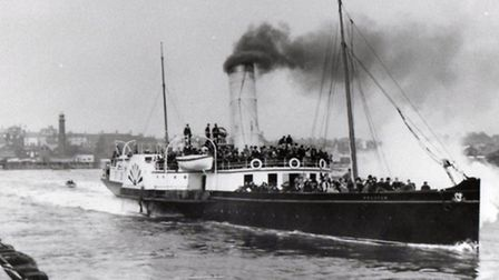 LONDON-BOUND: a paddle steamer about to sail out through the twin piers.Picture: SUBMITTED