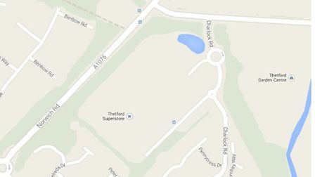 Map of Tesco in Thetford