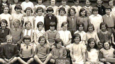 CLASS OF '26: the girls of class IV at the Church Road School in Gorleston. Picture: DENNIS DURRANT
