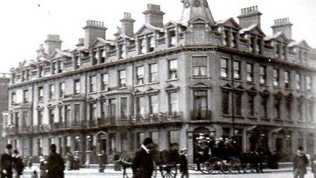 STATELY: The Queen's Hotel at the corner of Marine Parade and Regent Road as it looked 125 years ago