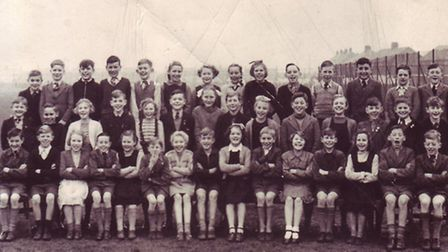 Classmates from the Church Road School before they moved to Peterhouse