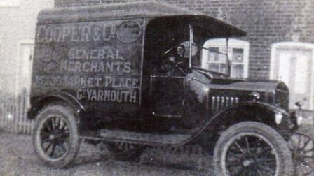 REMINDER OF YESTERYEAR: A Cooper & Co van probably between the wars. The company ended its Yarmouth