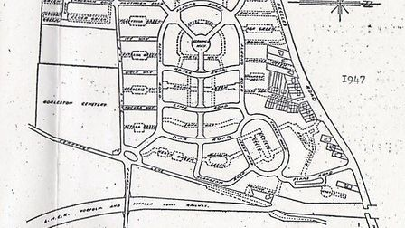 WELCOME RESULT: a map of the original Shrublands prefab estate at Gorleston in 1947, long-sought by