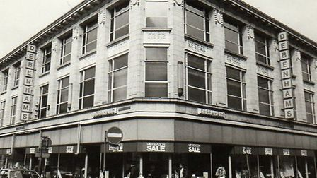 ELEVATING...Debenhams department store in Great Yarmouth town centre. When it was still trading as A