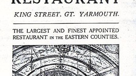 RIVAL RESTAURANT: a 1923 advertisement for Hills in King Street.
