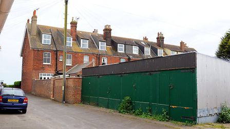 Plans to develop the land where green garages are behind the Gables nursing home and make way for ho