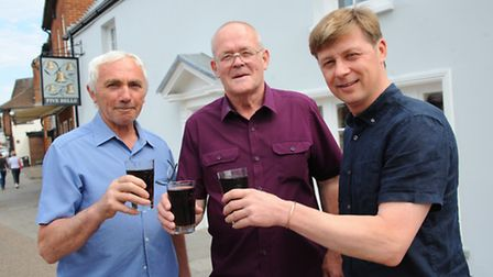 The Five bells in Brandon reopenes under new ownership after extensive renovations.L-r Project Manag