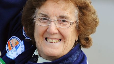 Betty Brown was one of the olympic torch-bearers. Picture: James Bass