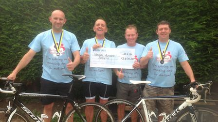 Barry Wharf, Richard Bennett, David Norton and Paul Hughes, who have helped raise nearly £4,000 for