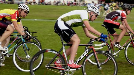 CC Breckland's Declan Davis competing in grasstrack racing at the Mildenhall cycling rally. Picture: