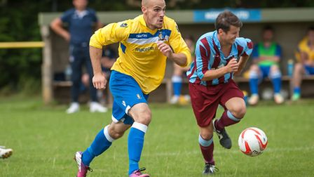 Matt Blake scored the only goal in Norwich United's FA Cup win against Deeping Rangers, which has se