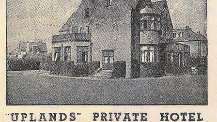 FAMILY HOTEL: an old advertisement for Uplands at Gorleston, run by the Redgrave family.